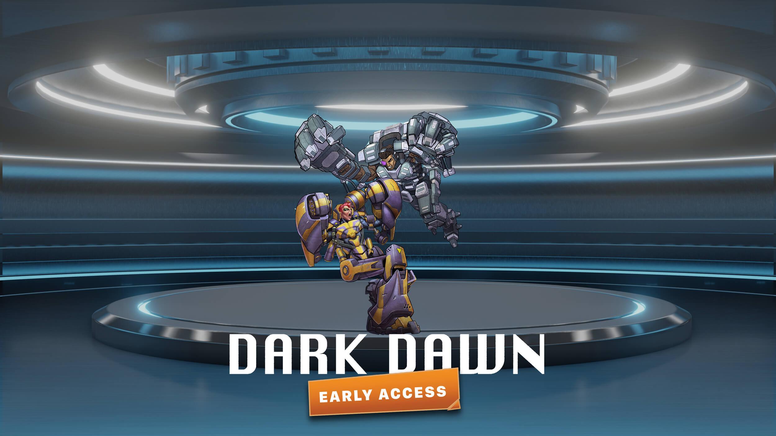 dark down game art background