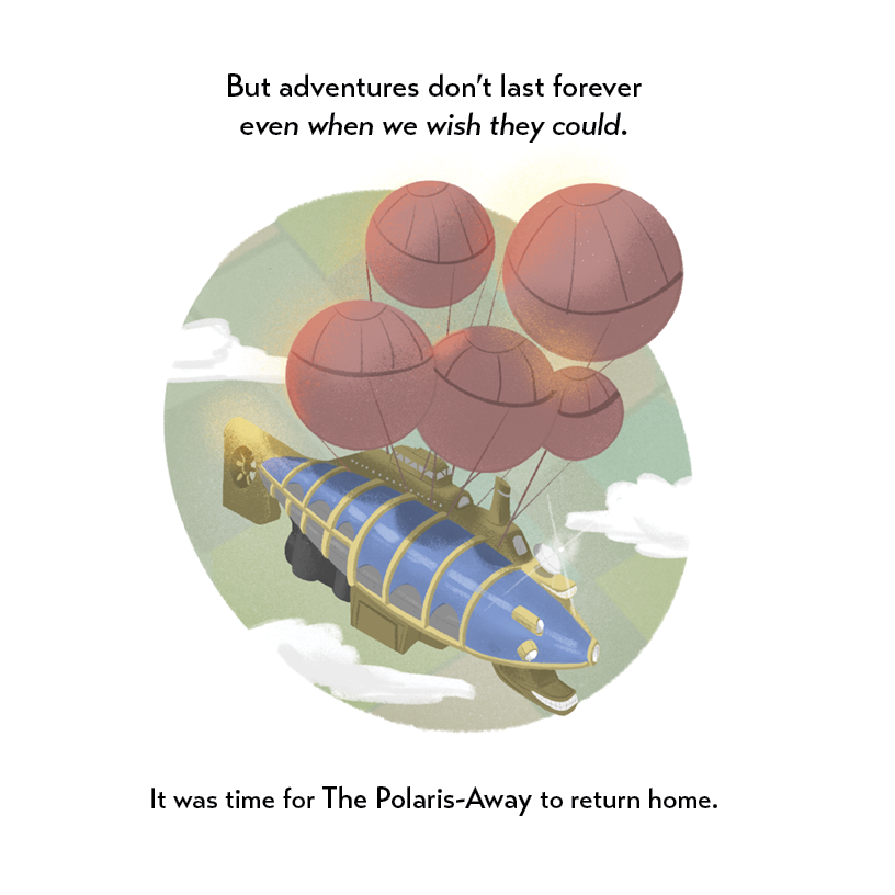 The Polaris-Away book preview showing the ship returning home