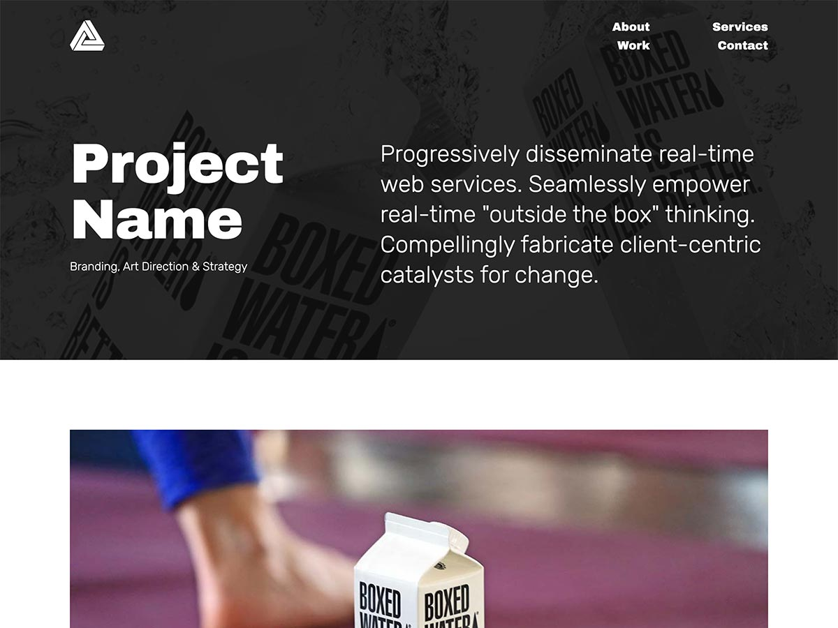 Big Type Agency Template Project