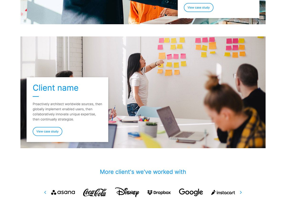 Benchmark Makeswift agency template clients and logos