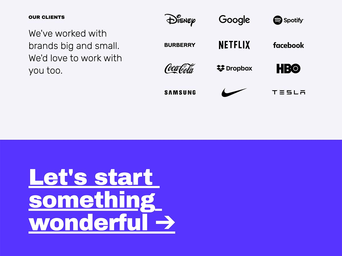 Big Type Agency Template Home