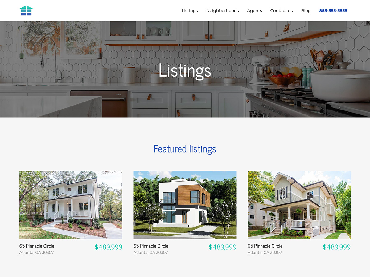 Makeswift Estate Real Estate template listings