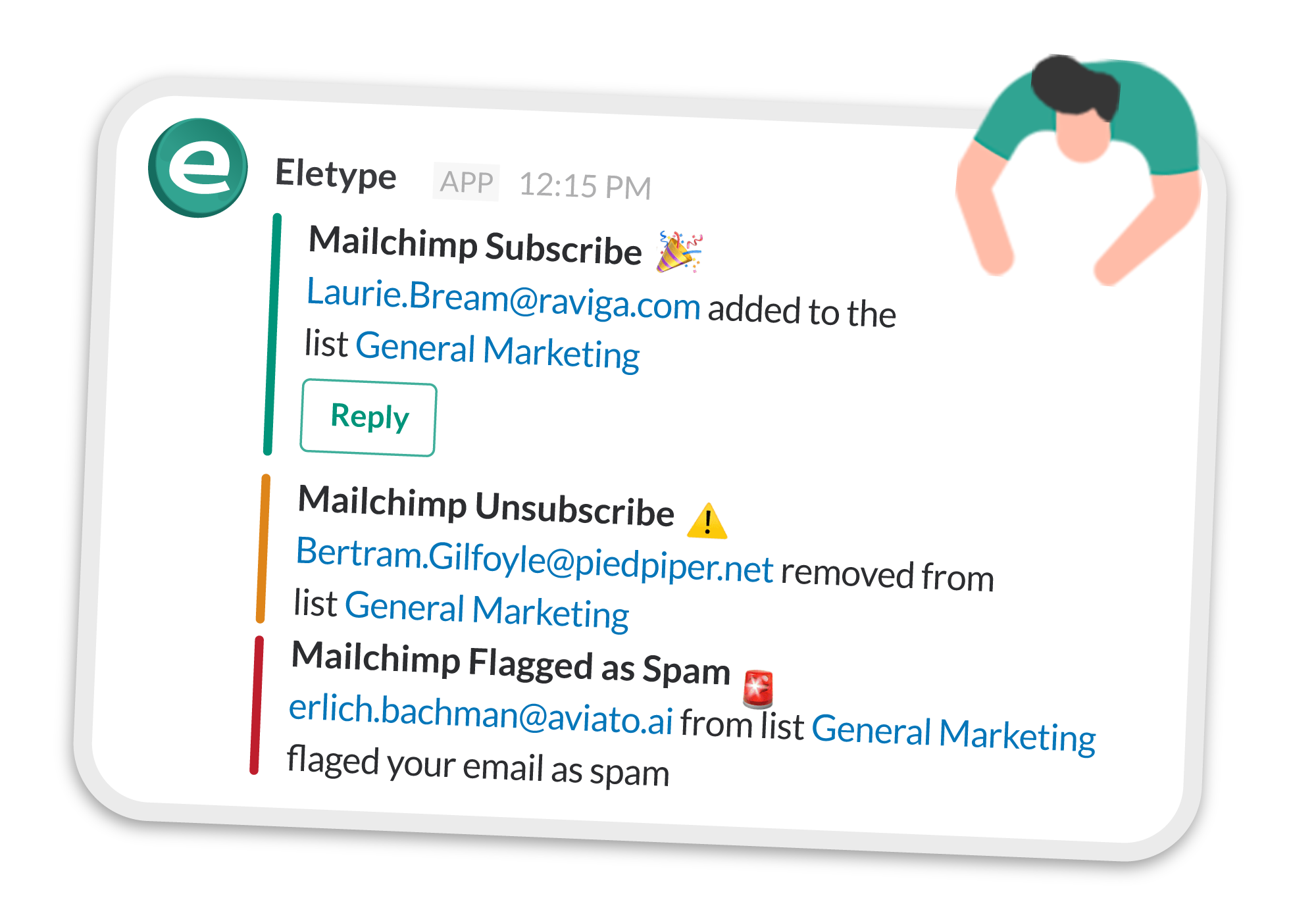 mailchimp realtime notifications in slack