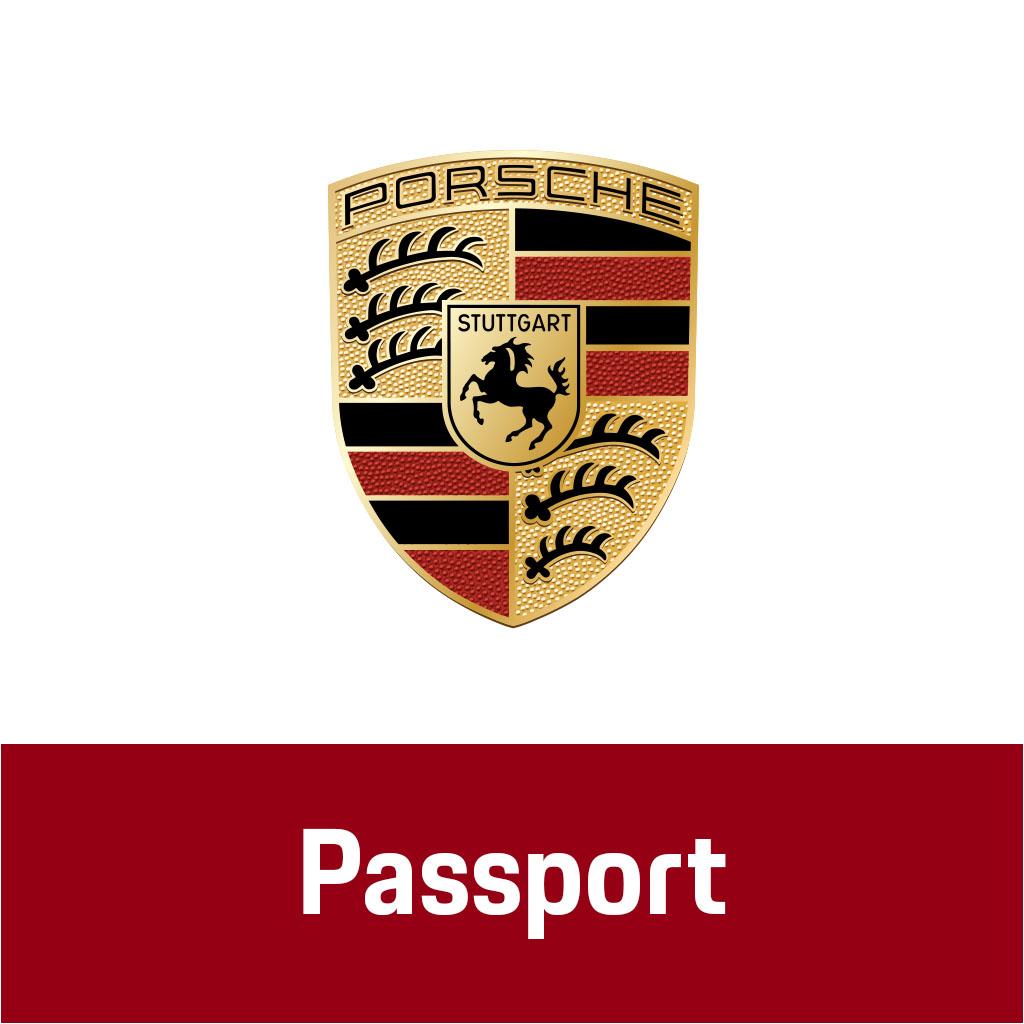 Logo Emblem Porsche Stuttgart Passport