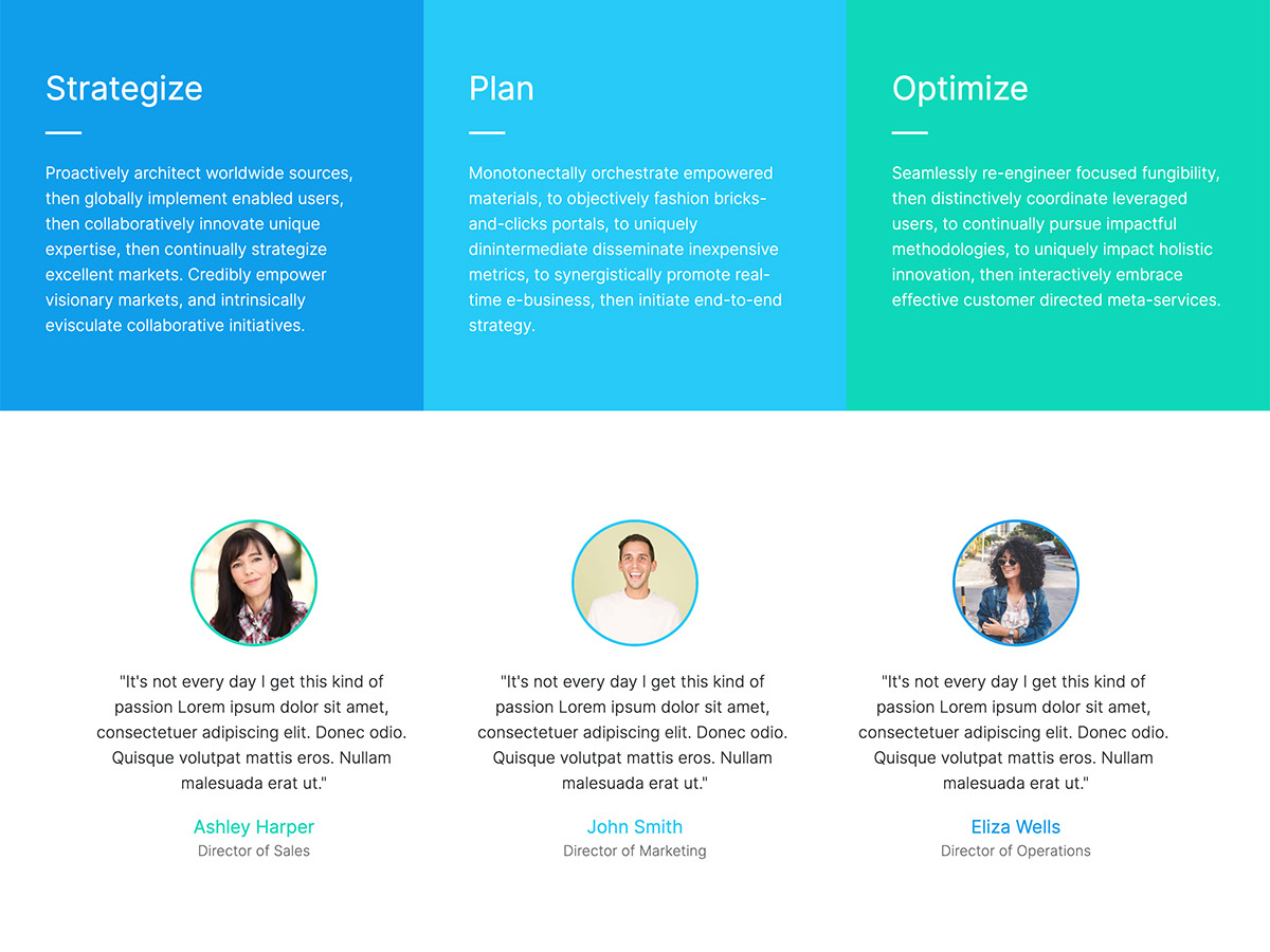 Benchmark Makeswift agency template home services and testimonials