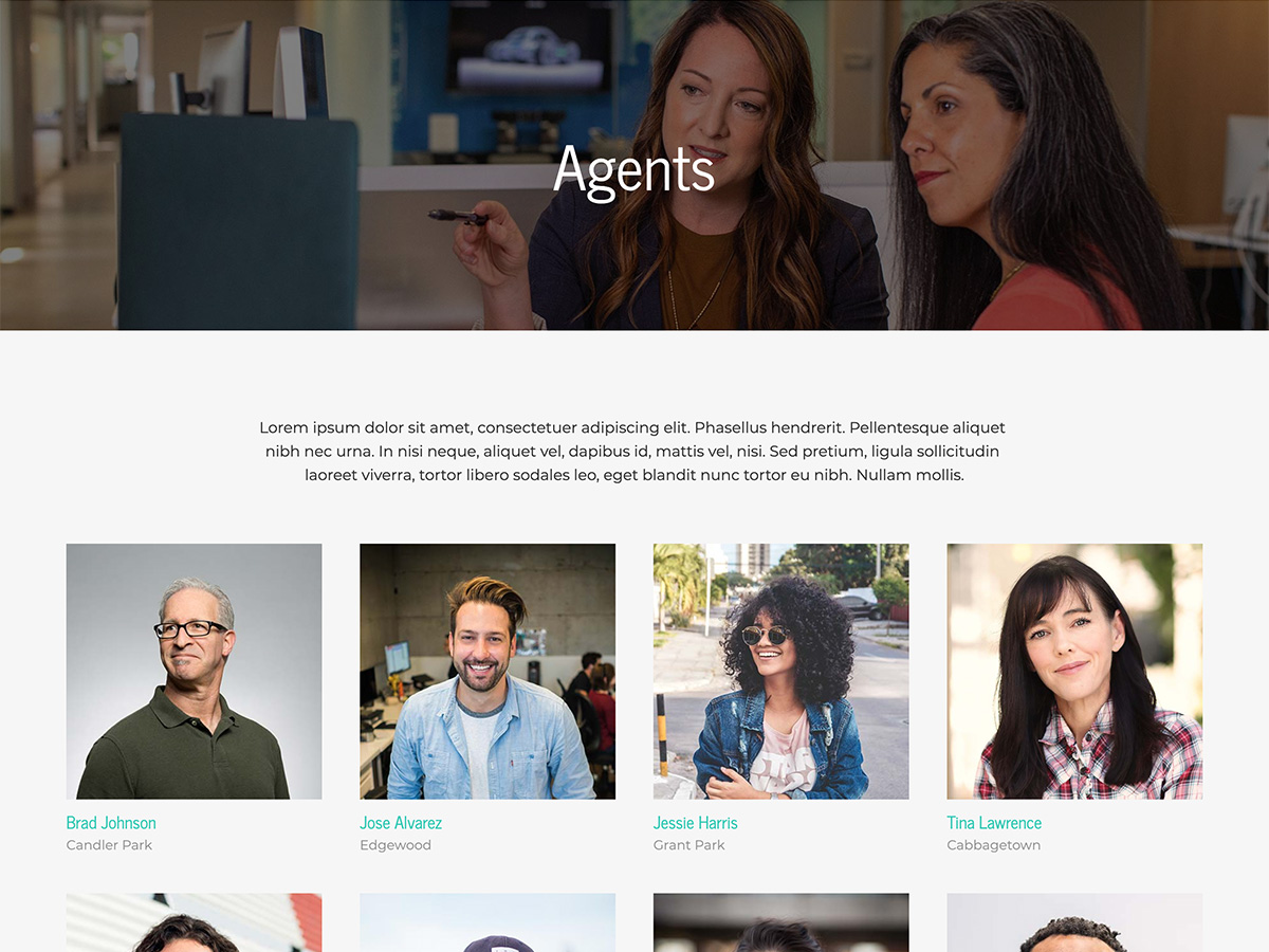 Makeswift Estate Real Estate template agents