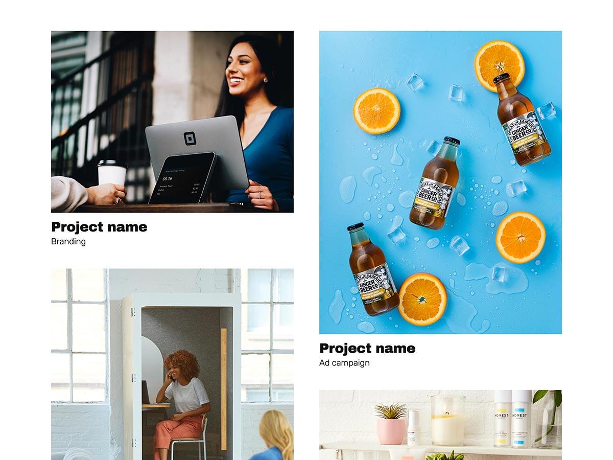 Big Type Agency Template Work