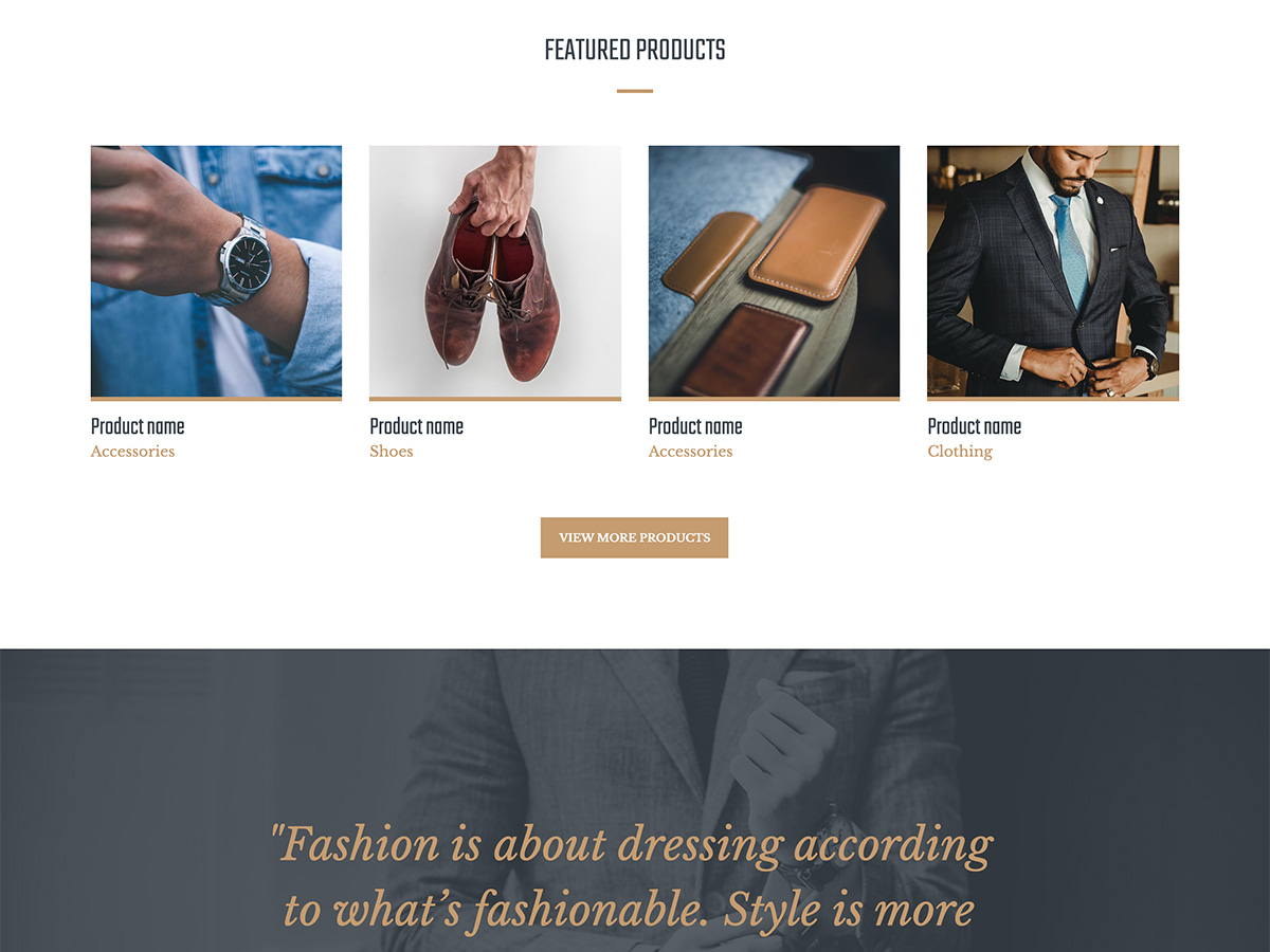 Makeswift Dapper template home products