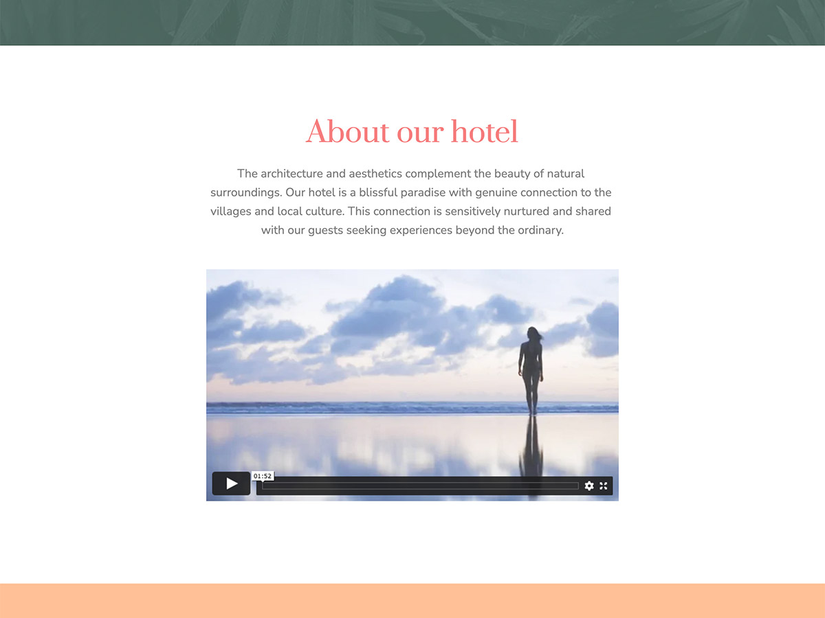 Overnight Makeswift Business template about info and video