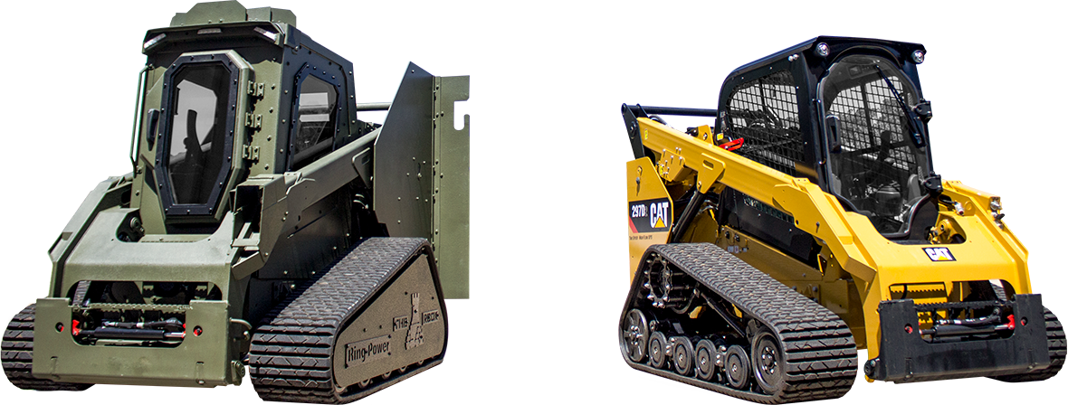 The rook is on a Cat Track Loader chassis