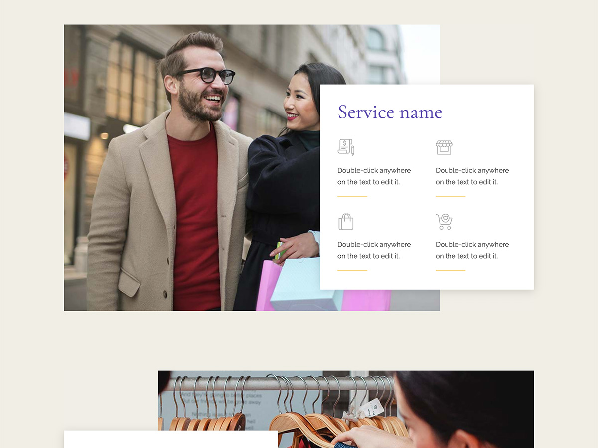 Nouveau Makeswift business template services