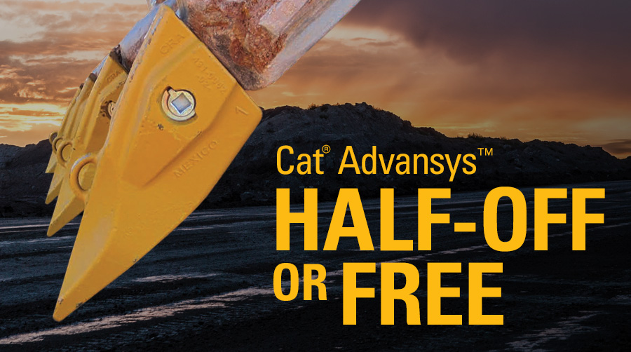 Cat Advansys ground engagement tool specials