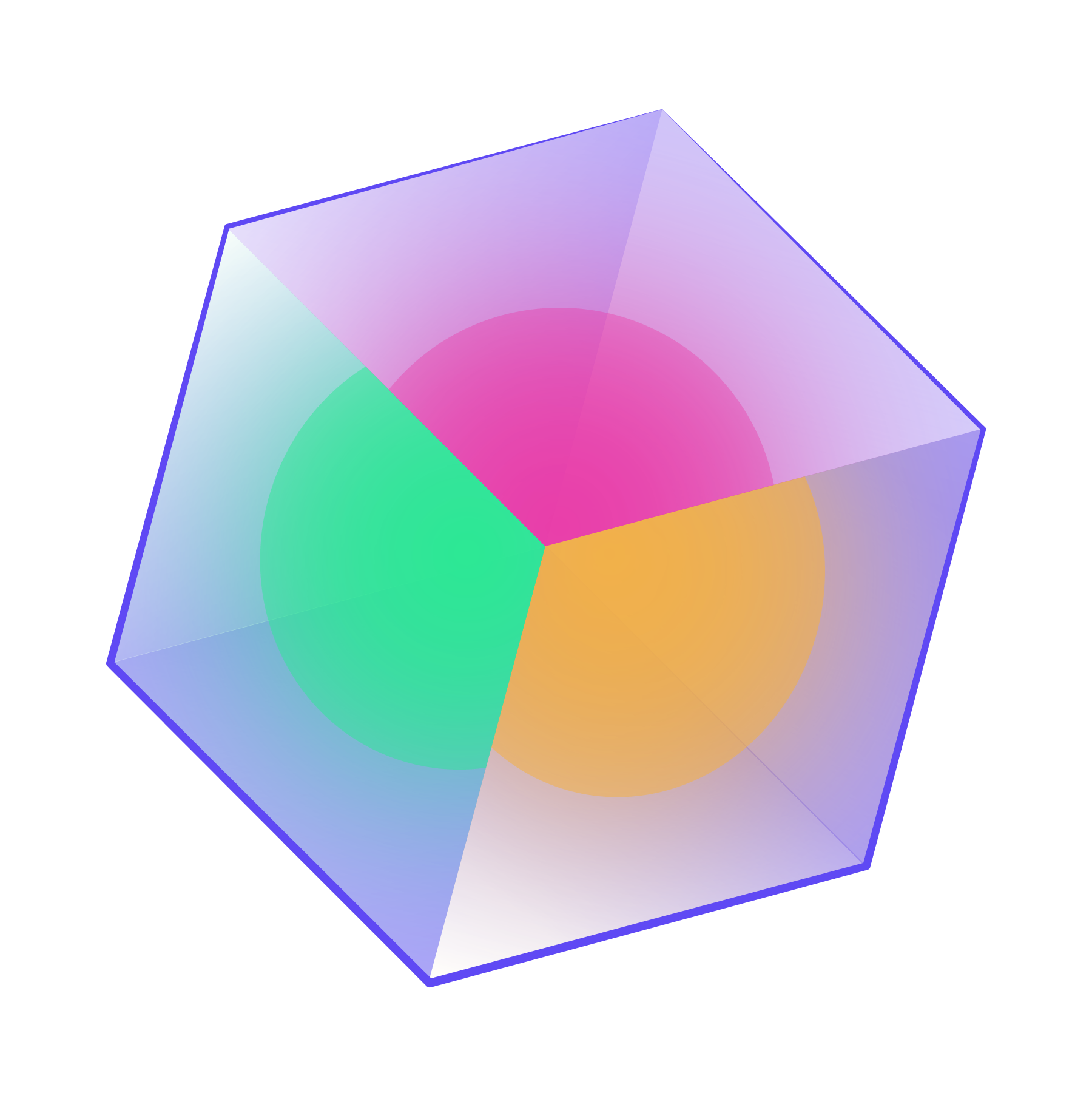 Fragmented cube