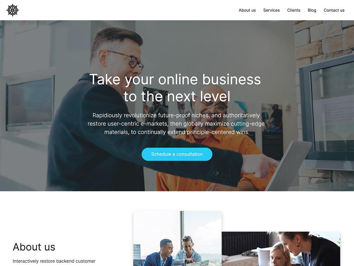 Benchmark Makeswift agency template home hero