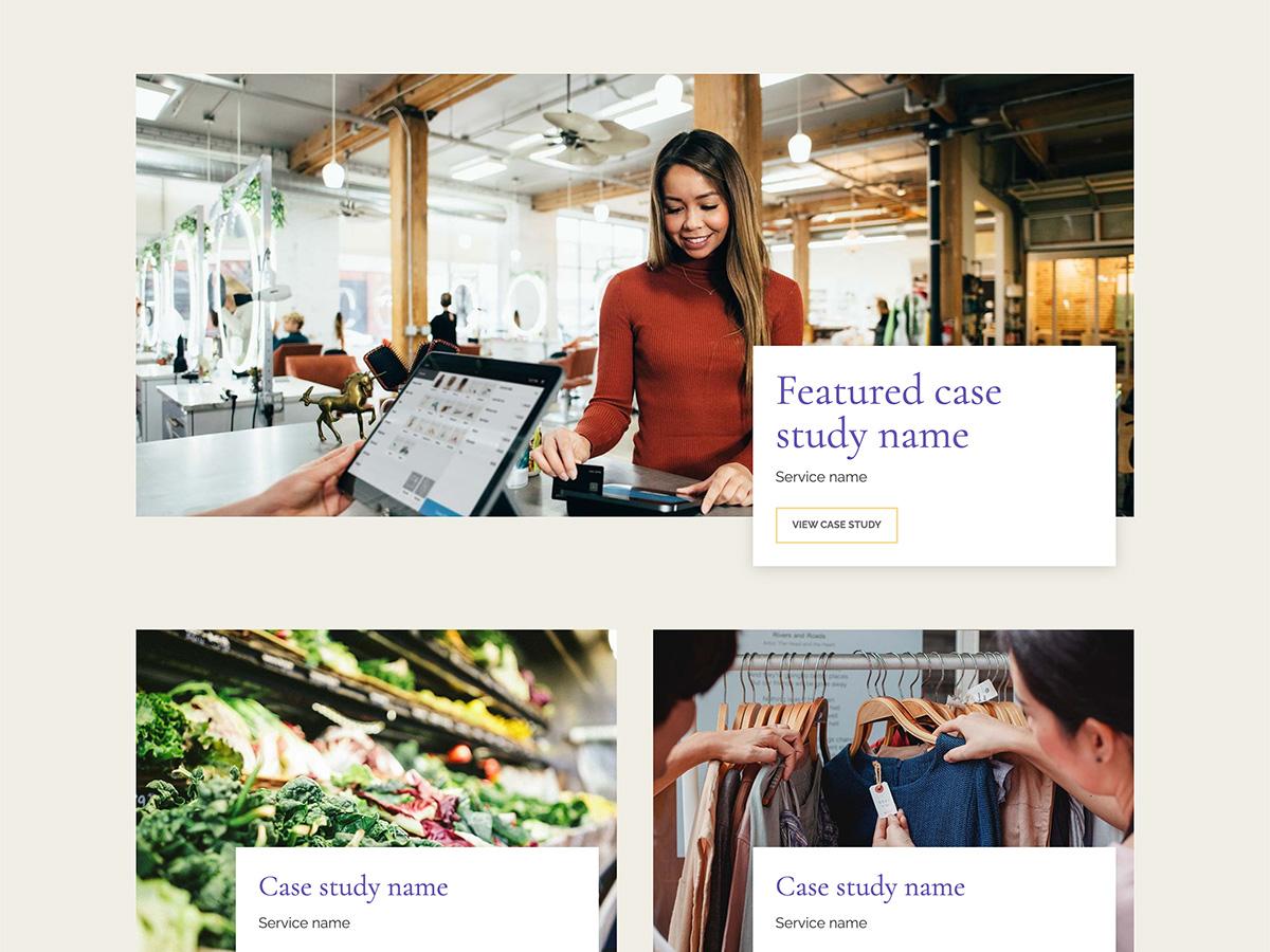 Nouveau Makeswift business template case studies