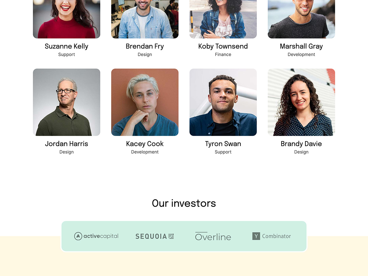 Makeswift Bootstrap template team and investors