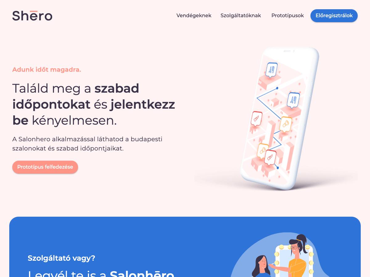 Salon Hero Website
