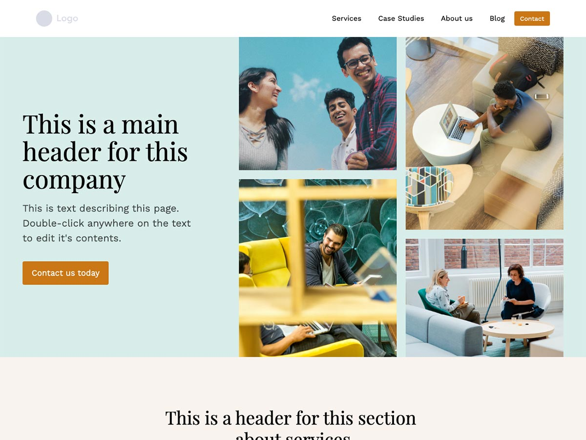 Makeswift Tandem startup template home