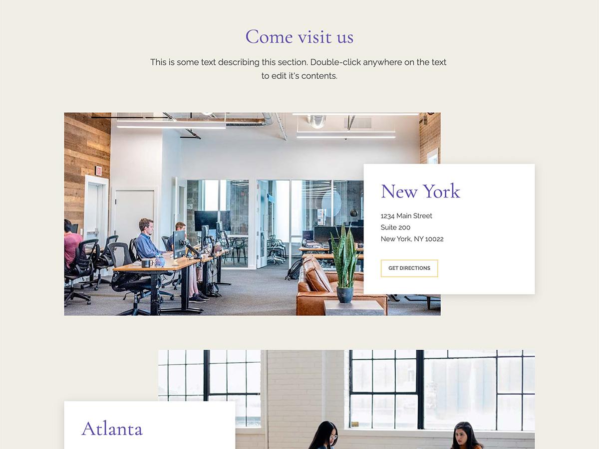 Nouveau Makeswift business template locations