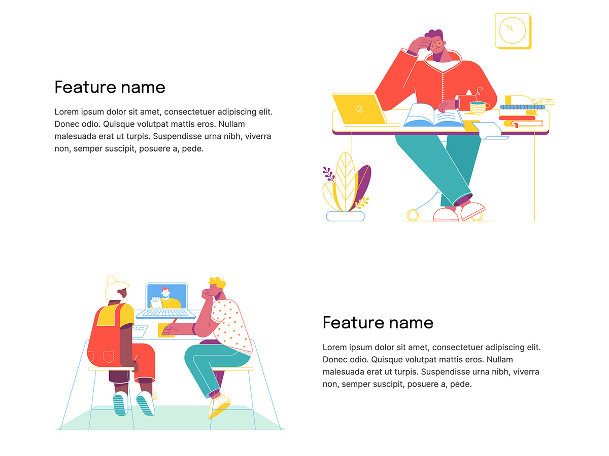 Makeswift Bootstrap template home illustrations