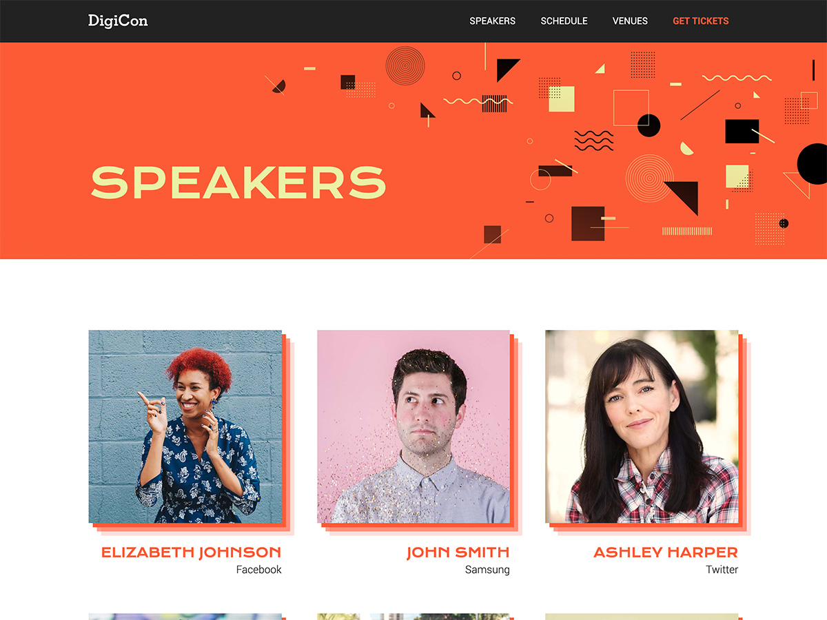 Makeswift Digicon template speakers