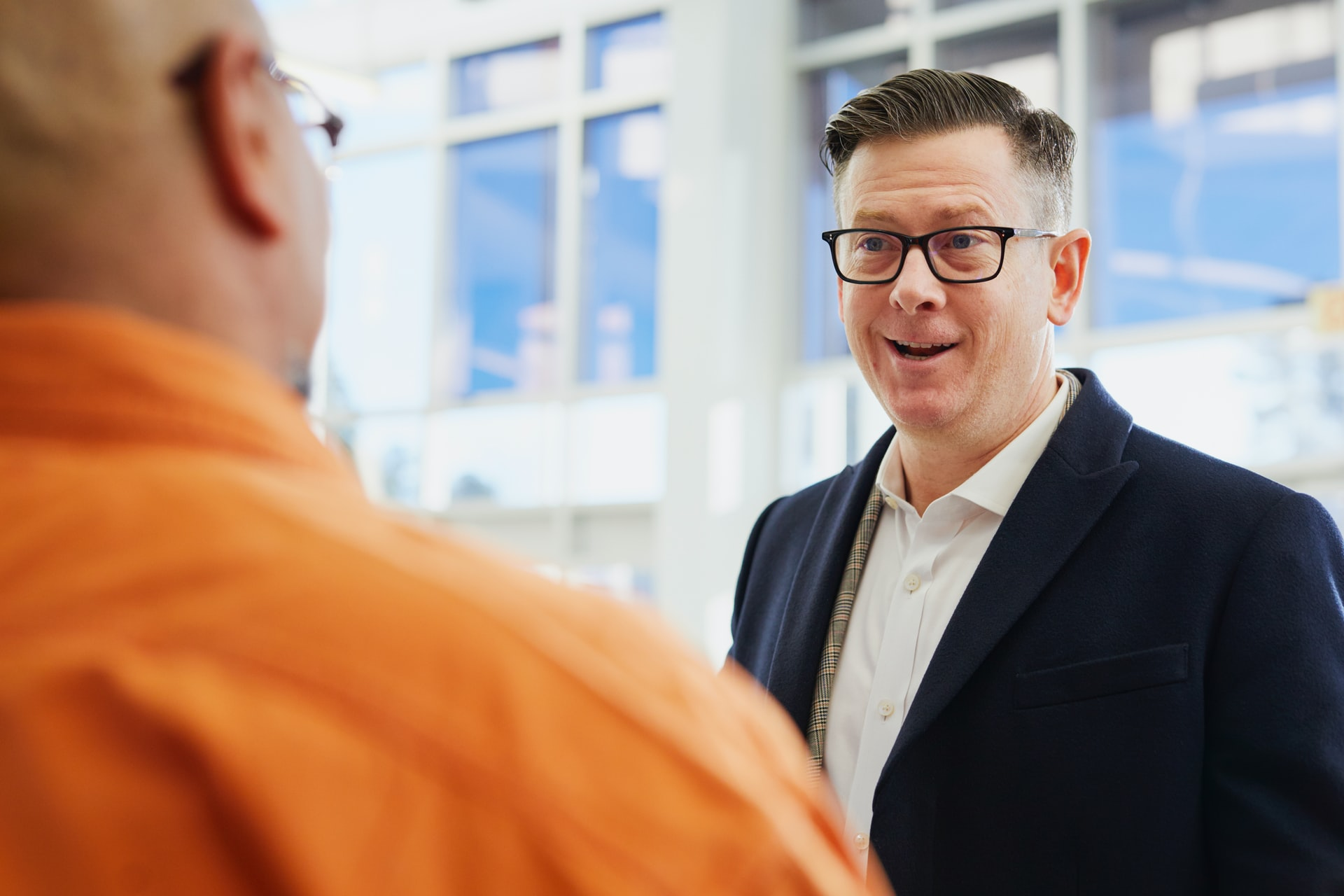 Service interaction. Photo by LinkedIn Sales Navigator on Unsplash.