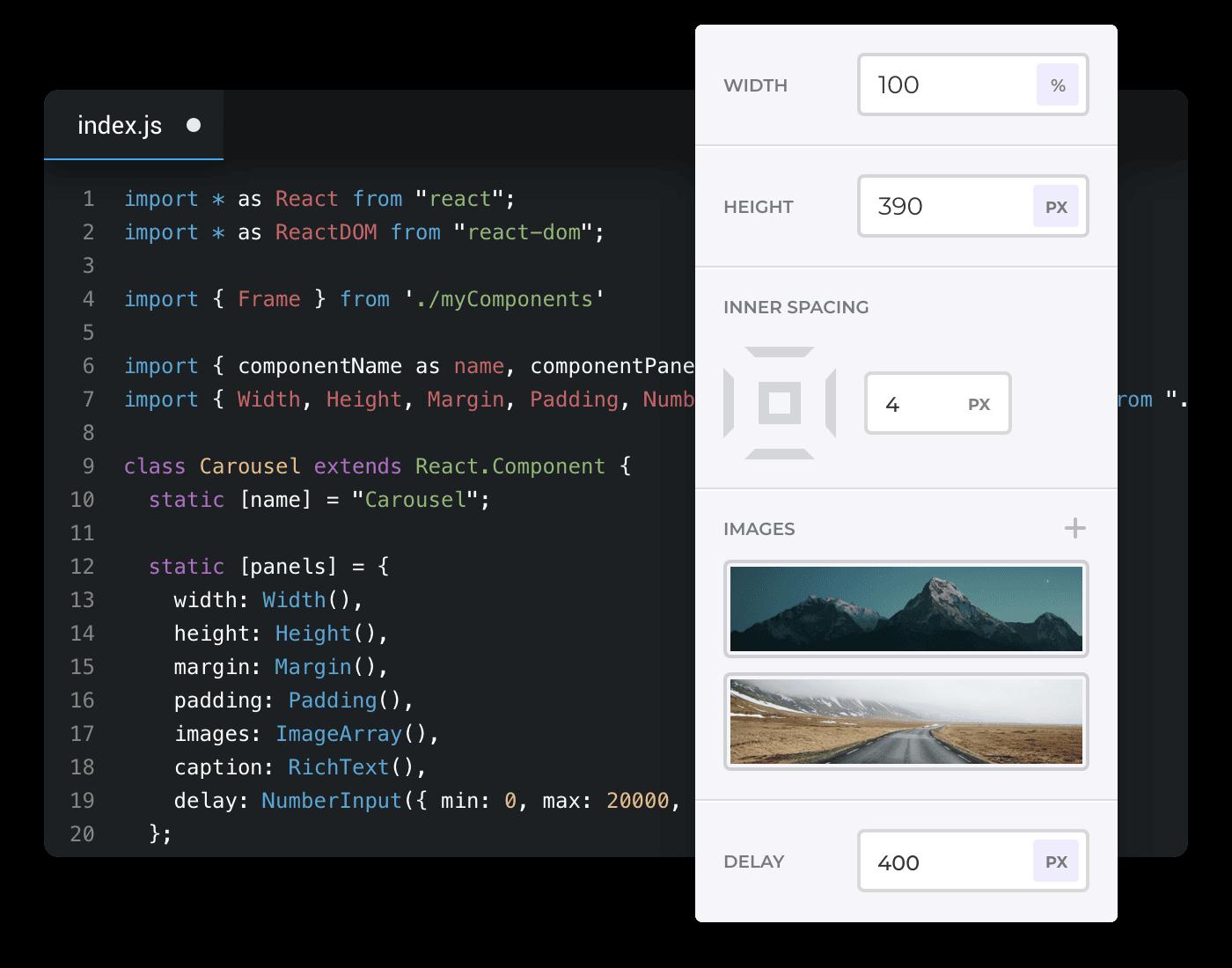 Developer code editor