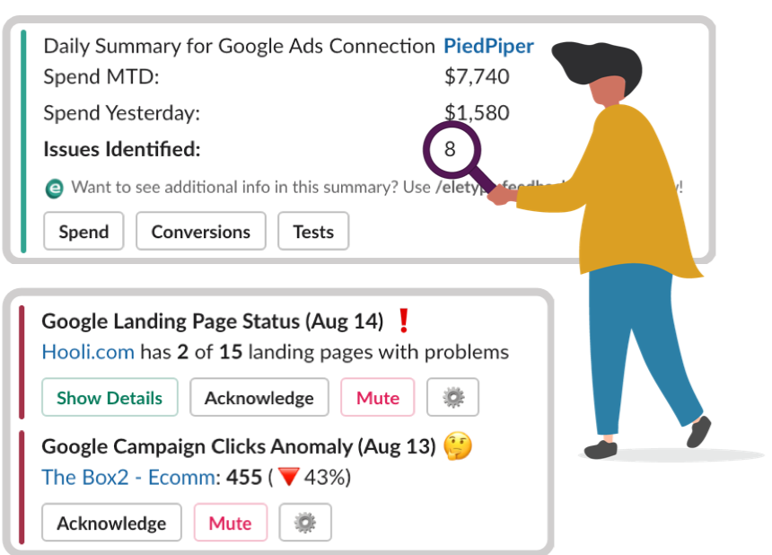 eletype google ads summary and alerts
