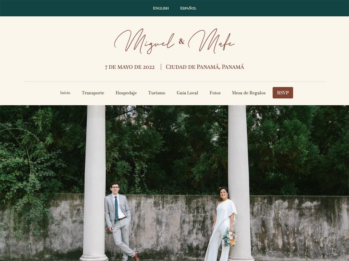 Oller Wong Wedding Website