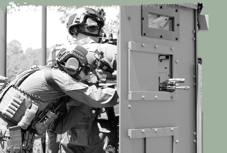 Safe cover on the armored deployment platform
