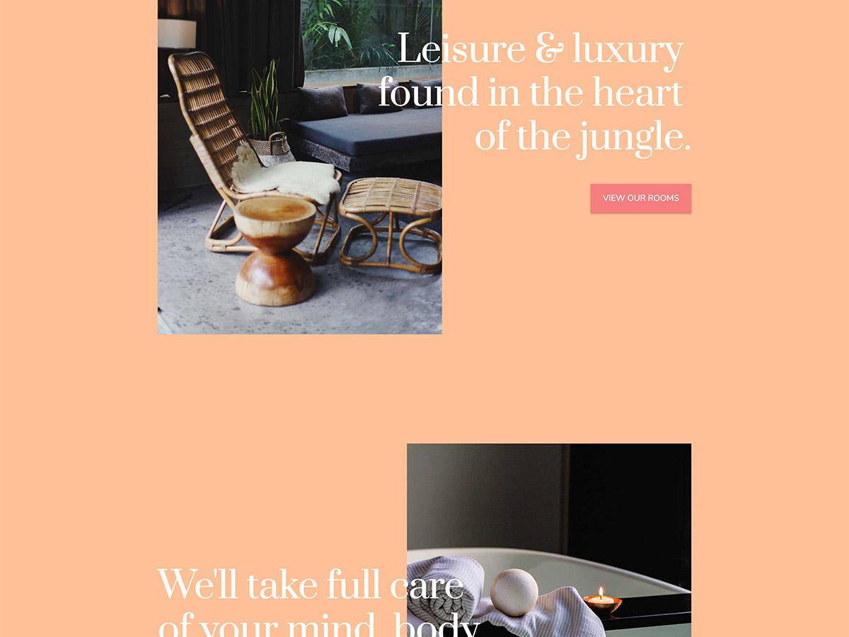 Overnight Makeswift Business template amenities