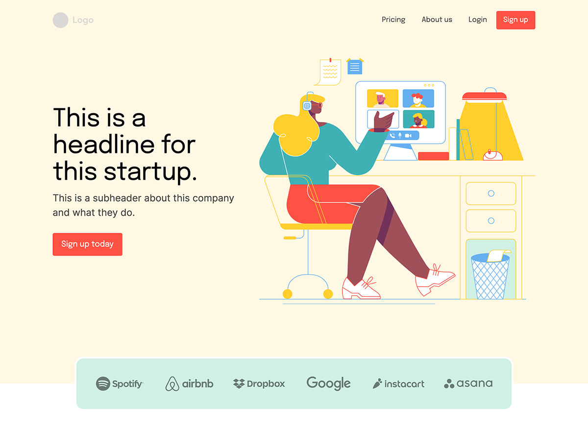 Makeswift Bootstrap template home hero