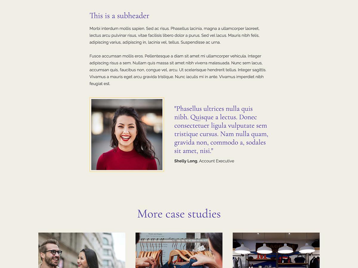 Nouveau Makeswift business template case study